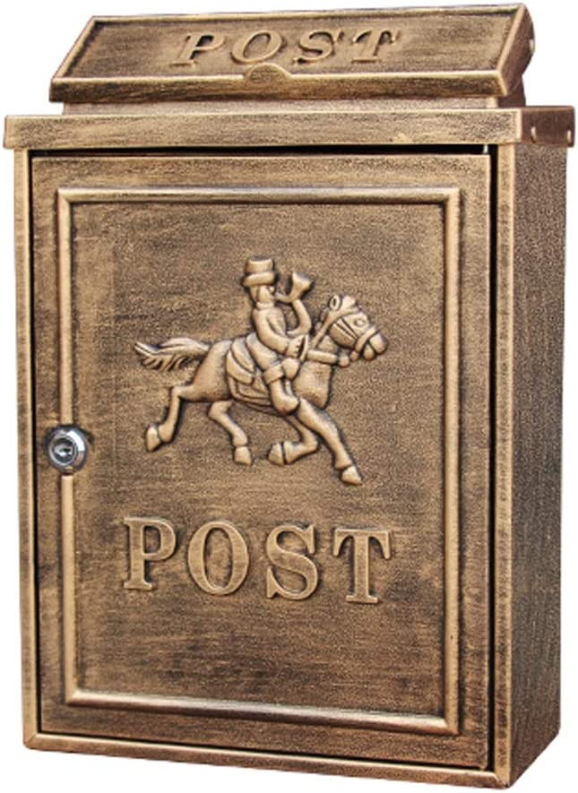 Gorgeous CDXZRZYH Postbox Letterbox Wall Regular store Lockable Mounted Letter Mailbox