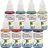 Custom Body Art 1oz 8 Color Secondary Airbrush Water Based Face and Body Paint Set