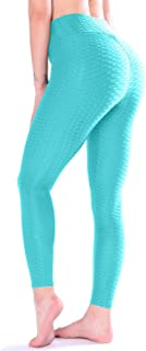 TFO Women's High Waist Yoga Pants Slimming Tummy Control Leggings Sports Workout Running Butt Lift Tights