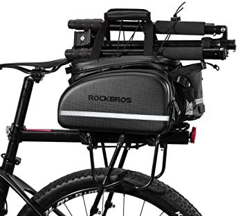 RDK Bike//Cycling Rear Disc Brake Pannier Bag Rack Black