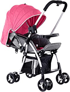BABY PLUS BP8291 Baby Stroller Cum Pram, 0-36 Months - Pink, BP8291-PINK