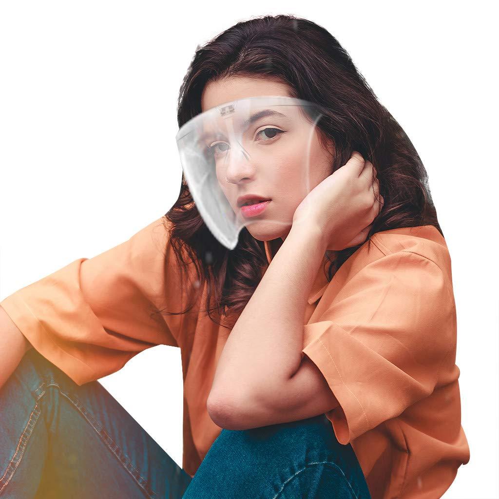 Gafas Protectoras Reutilizables Pantalla Facial Transparente y Antivaho de Seguridad Pantalla Facial Protectora para Hombres y Mujeres para Proteger los Ojos y la Cara Prueba de Viento (M, 1PCS)