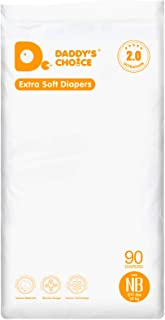 Daddy's Choice Disposable Baby Diapers, Newnorn(< 11 lb), 90 Count