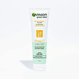 Garnier Brightening Gel Face Cleanse with Vitamin C, Pineapple, Facial Cleanser + Makeup Remover, Green Labs, Vegan Formul...
