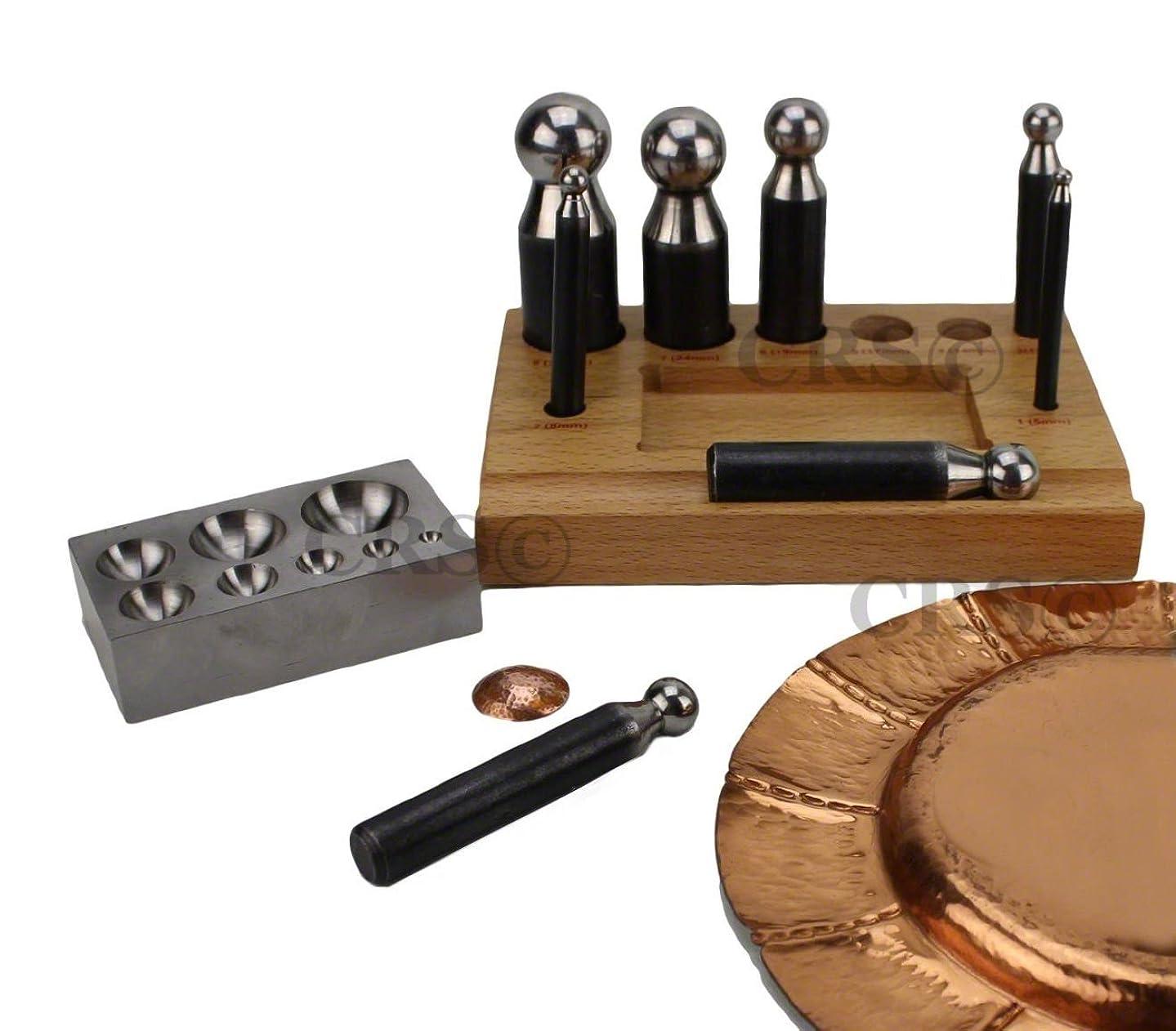 JCP Doming & Dapping Kit Set (9 Piece Kit)