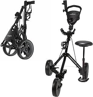 Caddymatic Golf X-TREME 3 چرخ چرخش / چرخش گلف با صندلی سیاه