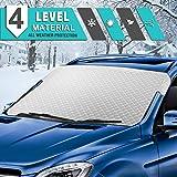 Tsumbay Couverture Pare-Brise Voiture Bache Pare-Soleil Auto Protection Repliable Anti UV/Chaleur Double...