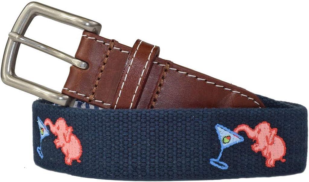 Pink Elephant Men's Embroidered Belt Spen Patriot J.T. by Large discharge sale Sales Navy