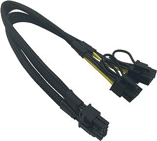 COMeap 8 pines Hombre a Doble 8 pines (6 + 2) Masculino PCIe Adaptador de corriente Cable para Dell T3600 T3610 T5600 T5610 T5610 T7600 T7610 5810 T5810 T7810 13 pulgadas (34 cm)