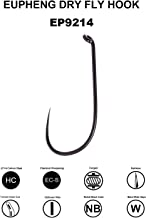 Eupheng C EP-9214 Barbless 120PCS Assortment #10-#20 Prime Dry Fly Fishing Catch Release Hooks High Carbon Great Value Collection