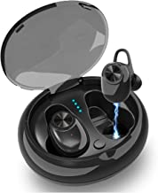 Wireless Earbuds, Junwer True Wireless Earbuds, Mini Bluetooth Earbuds with Charging Case 18H Playtime Stereo Bass TWS Bluetooth Headset, Wireless Bluetooth Headphones Built-in Microphone (Black)