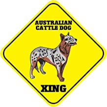 Fastasticdeals Australian Cattle Dog Xing Crossing Funny Metal Aluminum Novelty Sign