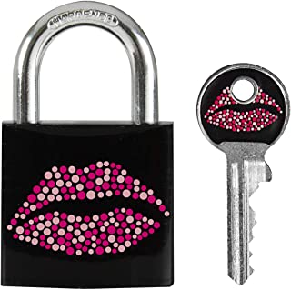 Master lock Luggage Lock Kiss Design Padlock Keyed Black (Pink) 3430EURDKISS