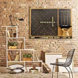 Convenient to Play Scrabble Wall Game (Black)
