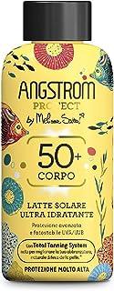 Angstrom Protect Latte Solare Ultra Idratante, Protezione Solare 50+ con Azione Nutriente, Migliora la Naturale Abbronzatu...