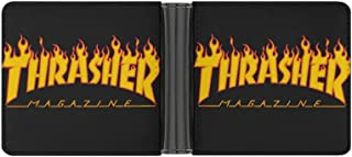 Thrasher POWR - Cartera de piel sintética para hombre, diseño minimalista