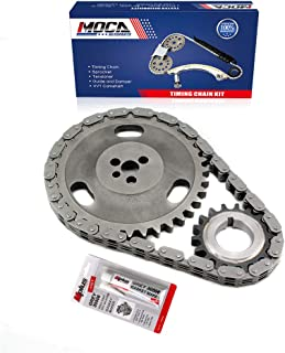 MOCA Timing Chain Kit Compatible with 92-01 GMC Jimmy C1500 K1500 & Chevy G10 Astro Blazer & Isuzu Oldsmobile 4.3L OHV V6 12V VIN CODE W X Z