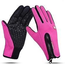 ETbotu sporthandschoenen, waterdicht, touchscreen-handschoen, antislip, voor rijden en skiën