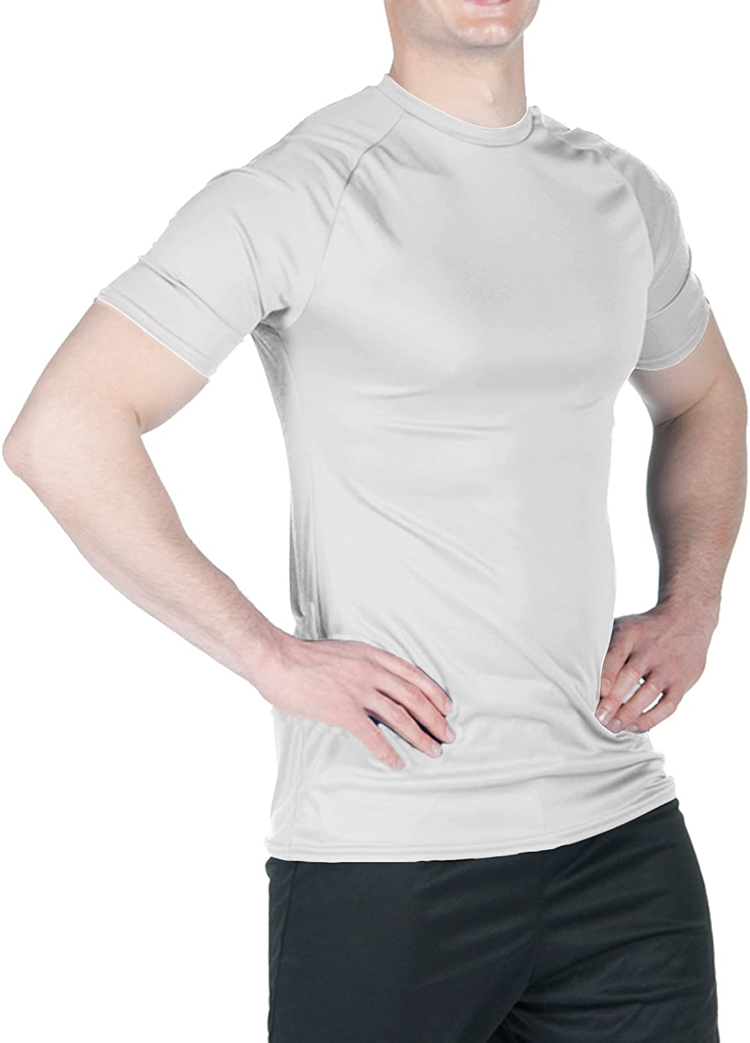 WSI Mens Micredech Short Sleeve Form Fit Shirt