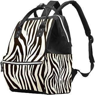 Multifunctionele Grote Baby Luiertas Rugzak, Zebra Animal Print Luiertas Reizen Rugpakket voor mama en papa