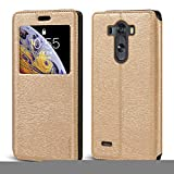 LG G3 D855 D850 D851 Case, Wood Grain Leather Case with