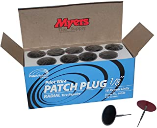 Patch Rubber Company 14040 1/8-Inch Pilot Wire Patch Plugs with 1-3/4-Inch Diameter Patch for Radial Tire Tread Puncture R...