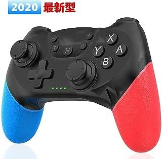 Nuyoo Switch pro コントローラー ワイヤレス Bluetooth接続 NFC機能 Amiibo対応 PCに接続 ジャイロセンサーTURBO連射機能搭載 人間工学 高耐久ボタン スイッチ プロ コントローラー【日本語取扱説明書】