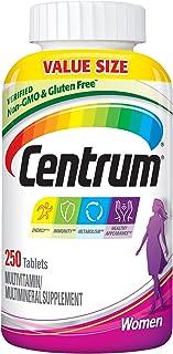 Centrum Multivitamin for Women, Multivitamin/Multimineral Supplement with Iron, Vitamins D3, B...