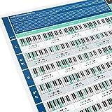The Really Useful Chord Progression Poster - Aprende Piano, Teoría Musical y Composición con nuestra Tabla de Acordes para Piano completamente ilustrada - Tamaño A1 - Versión Plegada
