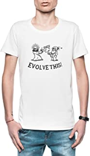 Evolve This Hombre Camiseta Blanco Todos Los Tamaños - Men's T-Shirt White