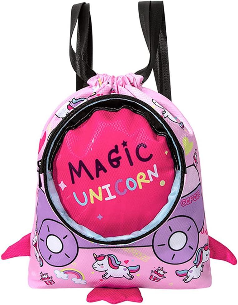 Licogel Kids Beach Bag Cartoon Nylon Drawst favorite Portable Lightweight Directly managed store