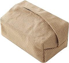 Baoblaze Elegante Linnen Tissue Box Cover Servet Doekjes Houder Pompen Papier Case voor Eetkamer Keuken Badkamer Slaapkame...