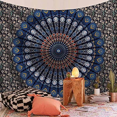Tapiz de mandala de yoga montaje en pared tapiz decorativo bohemio mandala tapiz psicodélico manta tela colgante A3 180x200cm