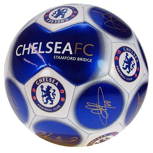 Chelsea F.C.–tamaño 5de fútbol, Blue - Signature Ball