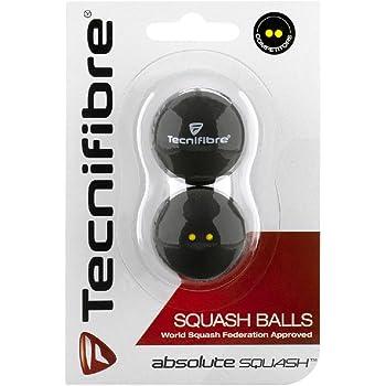 Pelotas de Squash Tecnifibre doble punto amarillo Dot, 2unidades)
