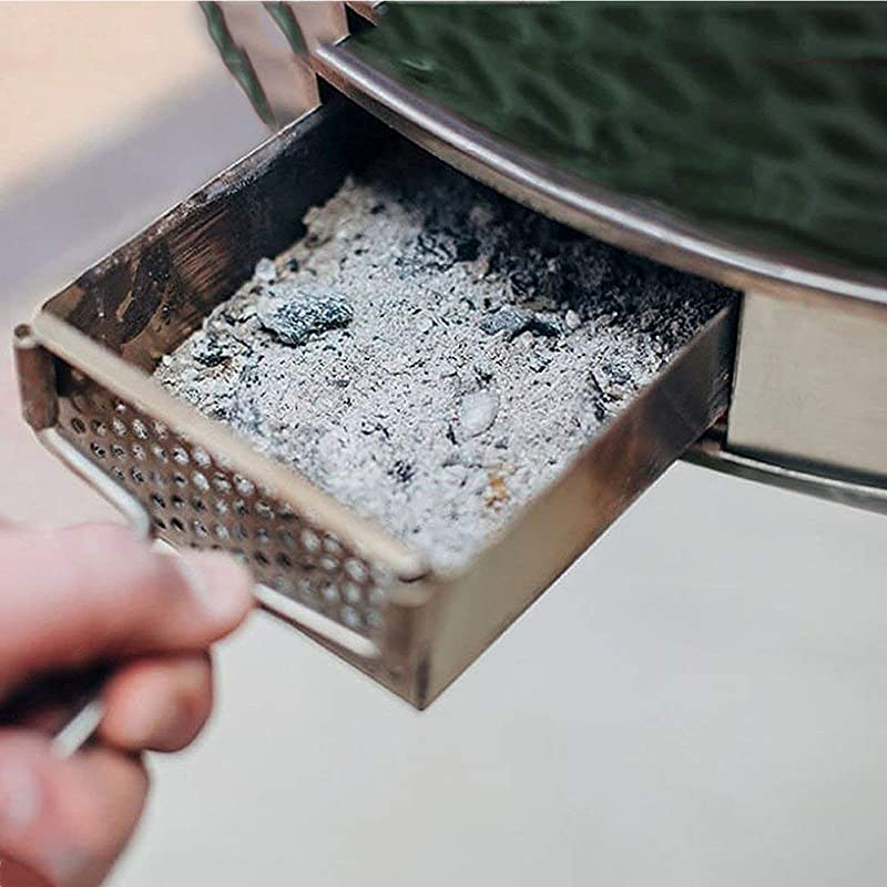 Mydracas Ash Catcher For Large Big Green Egg Big Green Egg Accessories Ash Tool Slid Out Ash Drawer Stainless Steel For Large Big Green Egg Accessories