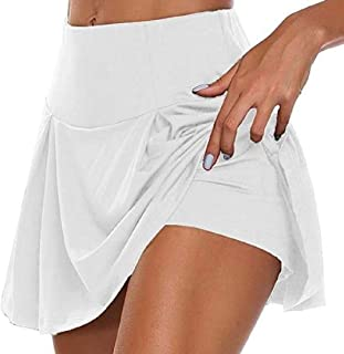 S-Fly Women's Formal High Athletic Running Sport Waist Mini Skirt with Shorts