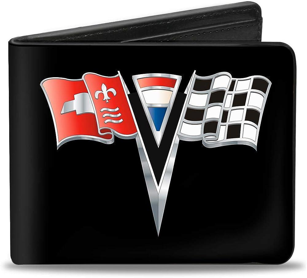 Buckle-Down PU Bifold Wallet - Corvette Stingray C2 Emblem Black