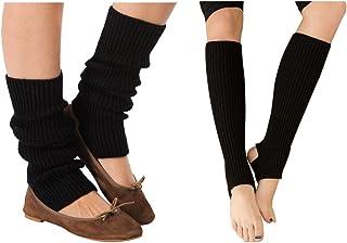 75ec100fc65 Freebily Femme Longue Chaussettes Laine Automne Hiver Chaud Bas Guêtre  Jambières Legging Tressé Tricot Crochet Jambières