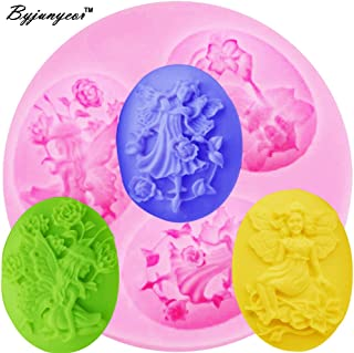 1 piece Byjunyeor F1186 Fairy Angel Flower Silicone Mold Baking Tools for Cakes Fondant Chocolate Candy