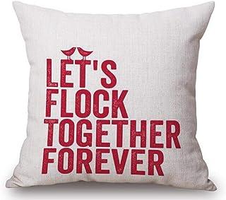 fjfjfdjk Cotton Linen You Are My Sunshine Decorative Pillowcase Throw Pillow Cushion Cover Square 18
