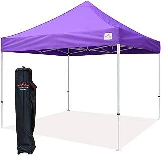 UNIQUECANOPY 10'x10' Ez Pop Up Canopy Tent Commercial Instant Shelter, with Heavy Duty Roller Bag, 10x10 FT Purple