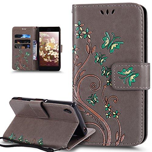Housse de Protection pour t/él/éphone LA COQUERIE Coque Sony Xperia XA1 Plus Papillons et Fleurs Silicone /à Motifs Fabrication fran/çaise Coque de Smartphone Rigide