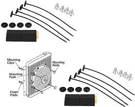 LTI-DIRECT Universal Fan Mount Kit Plastic Push Through Radiator Tie Strap (2 Pack)