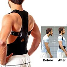 Shadow Securitronics Magnetic Posture Corrector for Lower and Upper Back Pain (L)