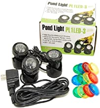 Jebao Submersible LED Pond Light with Photcell Sensor, Set of 3