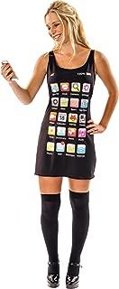 Womens Mobile Phone Telephone Fancy Dress Costume Black
