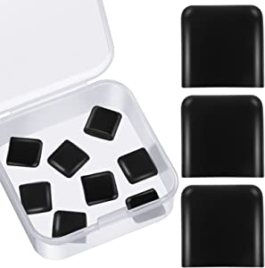 8 Pieces Air Fryer Rubber Bumpers Silicone Anti-Scratch Protective Covers Black Air Fryer Rubber Feet Air Fryer Replacement Accessories Compatible with Chefman Gowise Powerxl