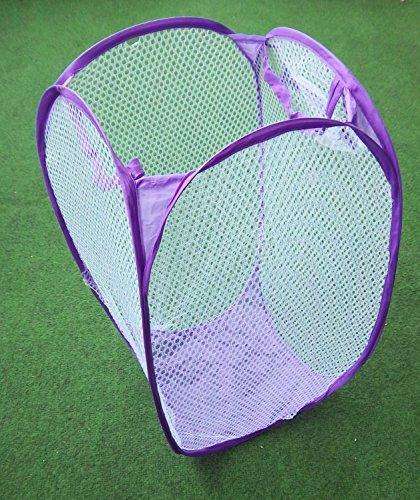 5 Stück faltbar-es-Wäsche-Korb-Box-Netz Farbe Wäschesammler bunt gemischt vom Sachsen Versand