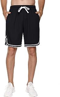 Hawiton Pantalones Cortos de Deporte para Hombre Pantalones Deportivos Verano de Algodón Fitness Jogging
